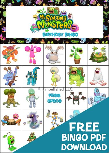 My Singing Monsters Birthday Party FREE PDF Download! 100 game