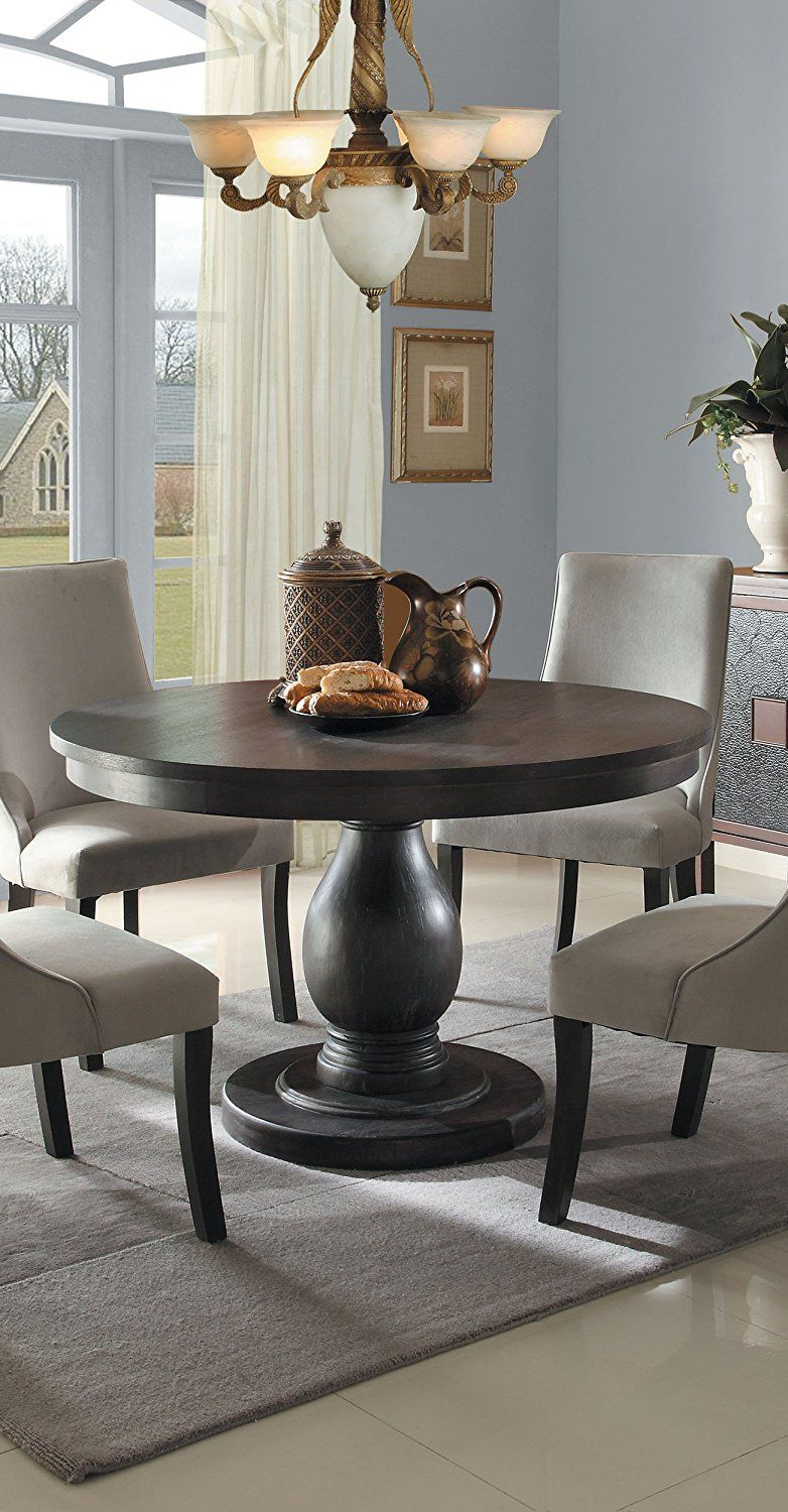 amazon kitchen table islands home depot com 2466 48 style round pedestal by homelegance dining