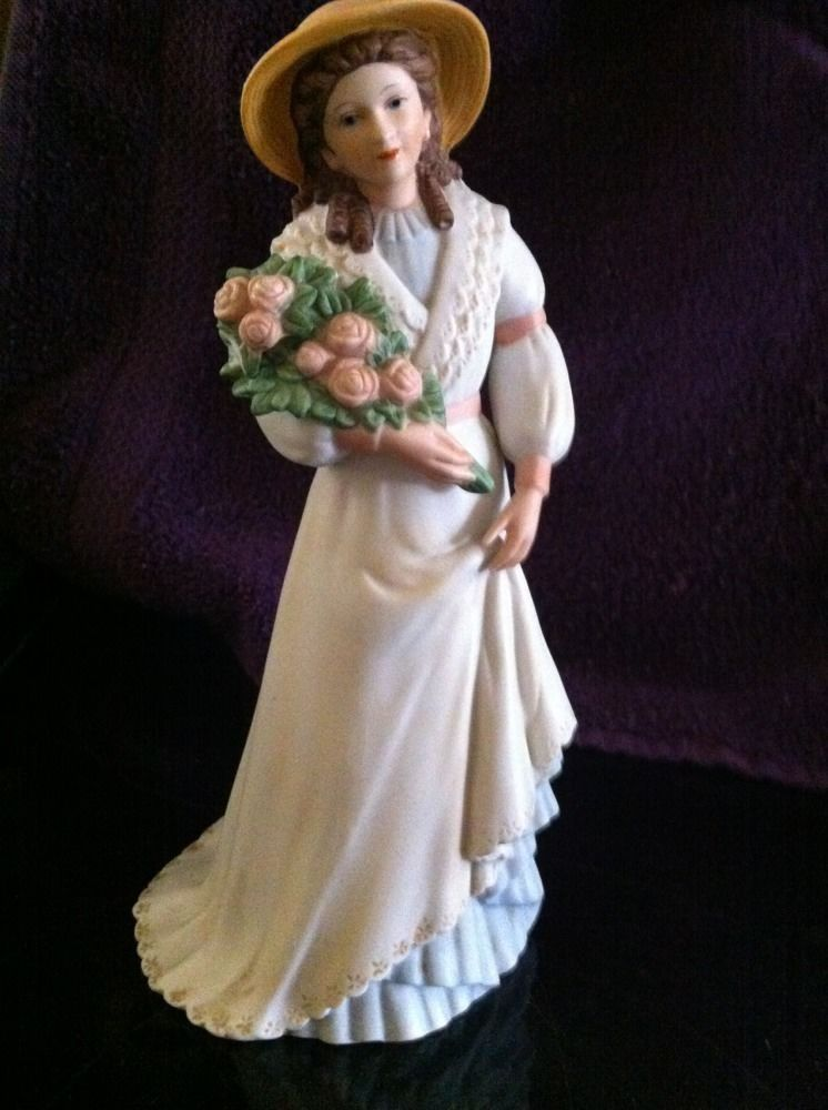 Home interiors homco charlotte rose victorian lady porcelain figurine 1468