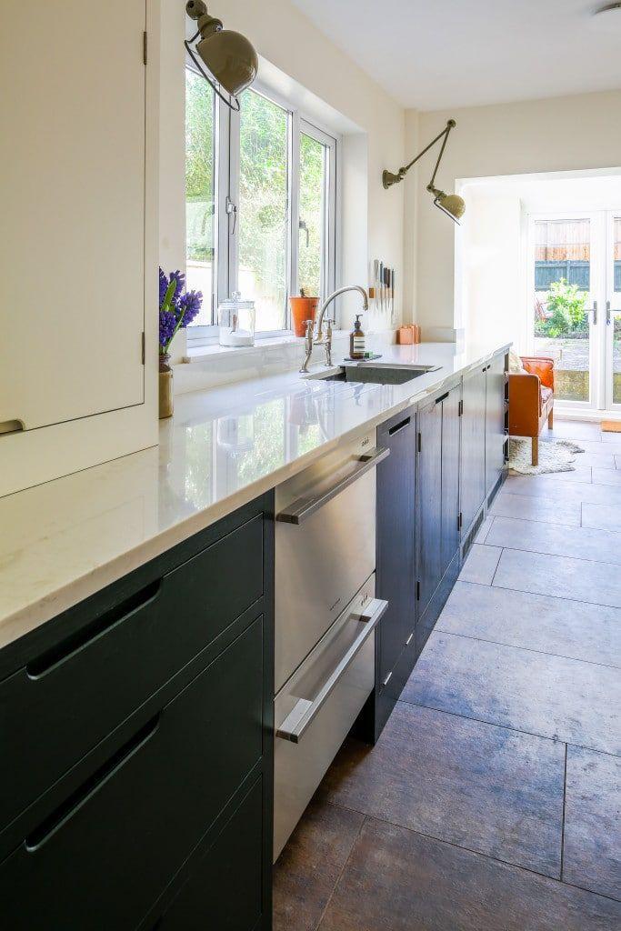Green Industrial Style Galley Kitchen | Galley Kitchens | Pinterest ...