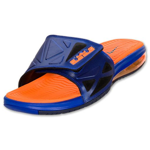 size 40 77f80 5a49a Nike Air LeBron 2 Elite Slide Sandal  Hyper Blue Bright Citrus-Black
