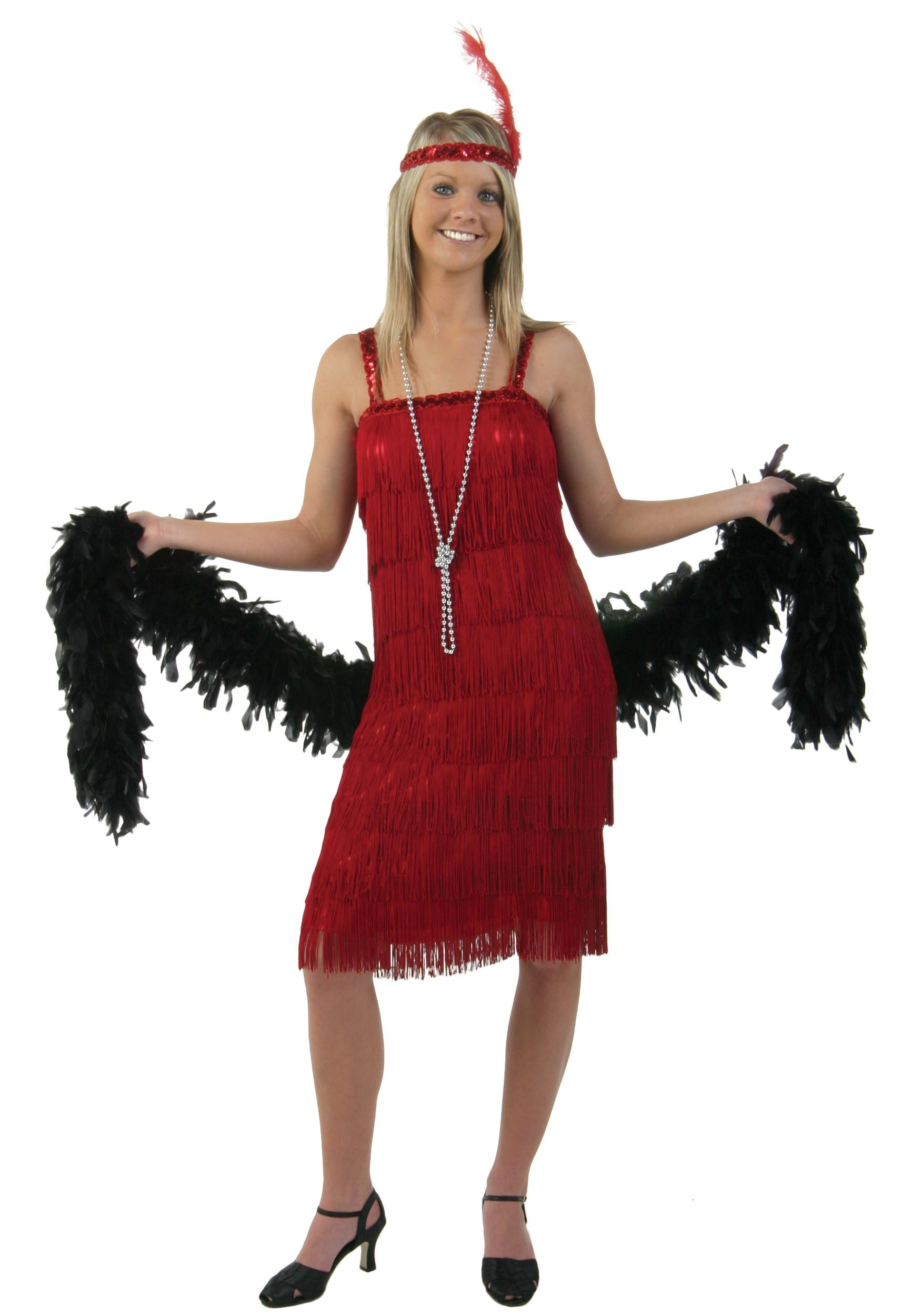 537f7047f0bbe Miss Millie Red Flapper Costume | Halloween | Red flapper dress ...