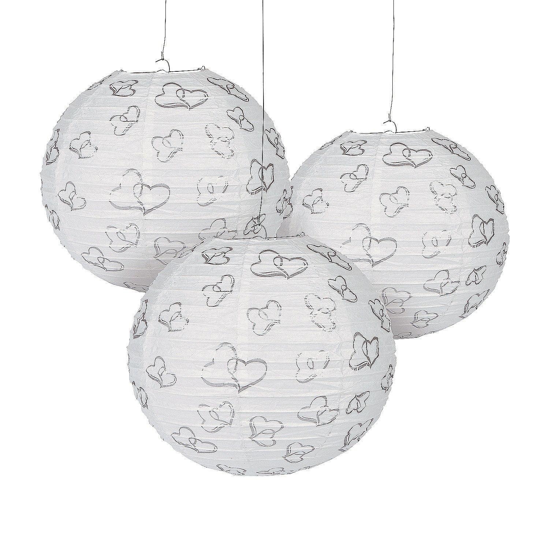 Two Hearts Hanging Paper Lanterns | Paper lanterns, Hanging paper ...