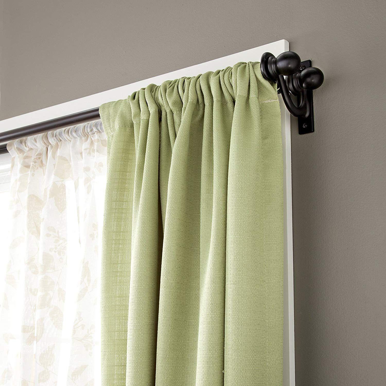 Kenney Scroll Bracket Double Window Curtain Rod Set 48 To 86 Inch