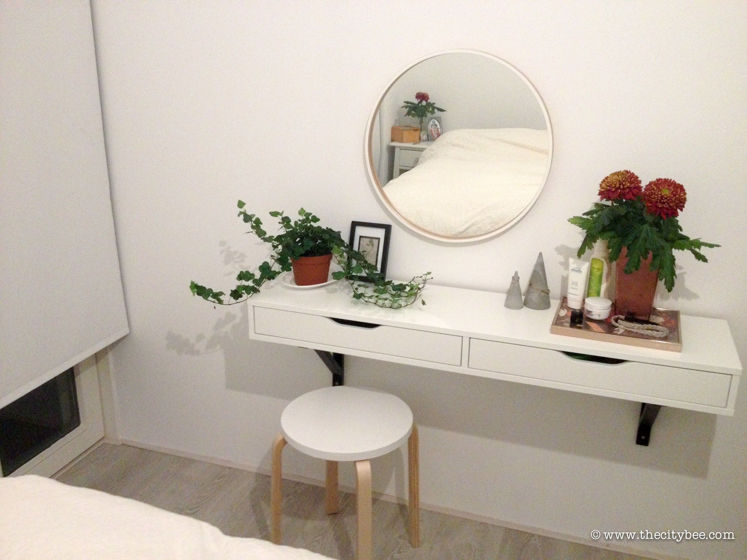 Create An Ikea Ekby Alex Vanity And Have A Dedicated