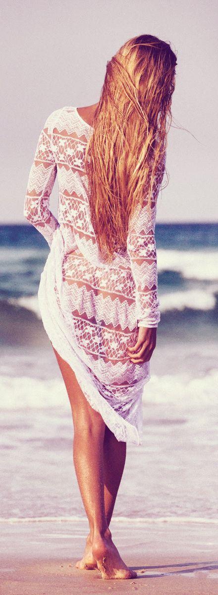 Tapado playero | BELLO!!! | Pinterest | Playa, Ropa de encaje y ...