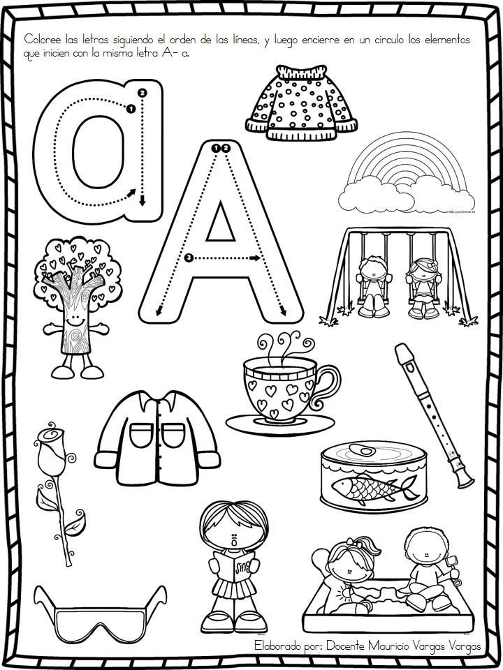 Práctica de vocales ~ Educación Preescolar | Vocales | Pinterest ...