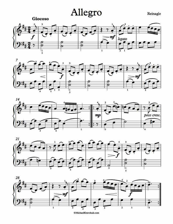 My Personal Website where I post Free Sheet Music, by