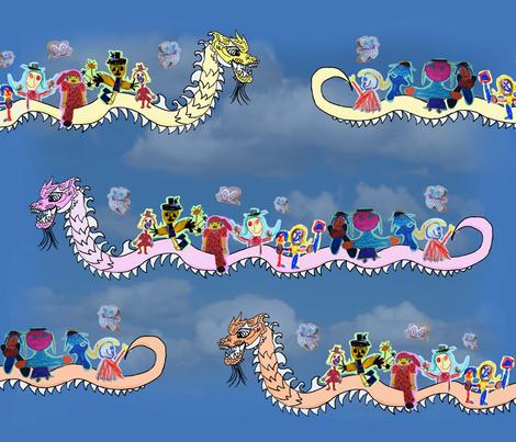 lucky dragon flight fabric by 7oaks-design on Spoonflower - custom fabric, http://www.spoonflower.com/fabric/1317975