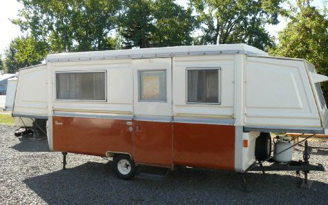 1972 Apache Ramada Vintage Hard Sided Tent Trailer For Sale