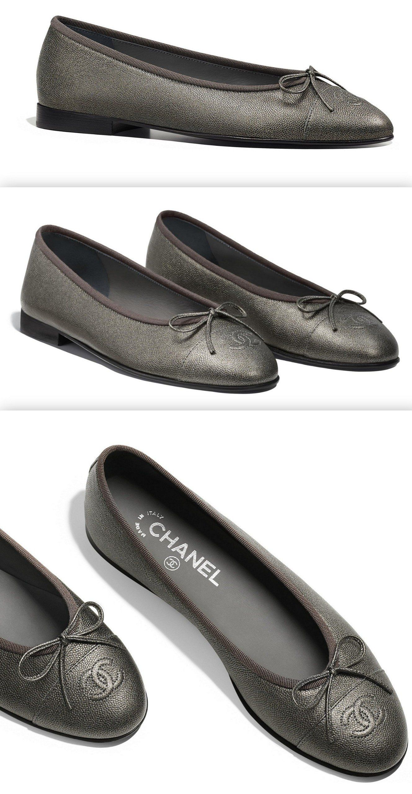 c12fa92dec35 Grained Lambskin Ballerina Flats. Find this Pin and more on Products by DESIGNER  INSPIRED CLOTHES.
