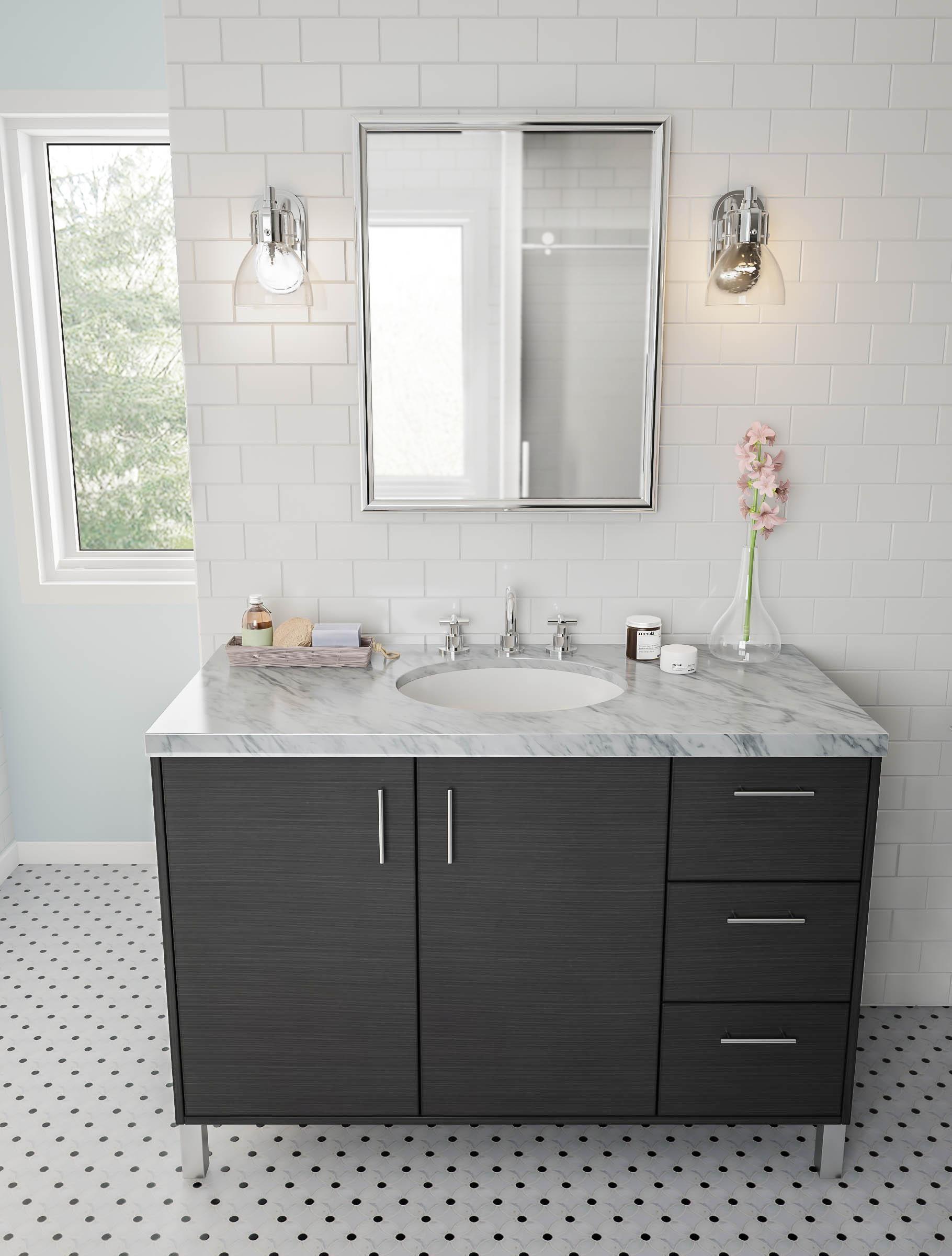 Make Gray Fun This Bright Bathroom Cement