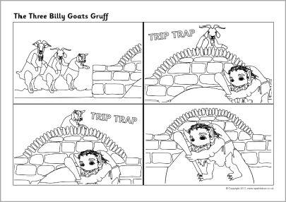 Three Billy Goats Gruff Sequencing Sheets Sb6312 Sparklebox
