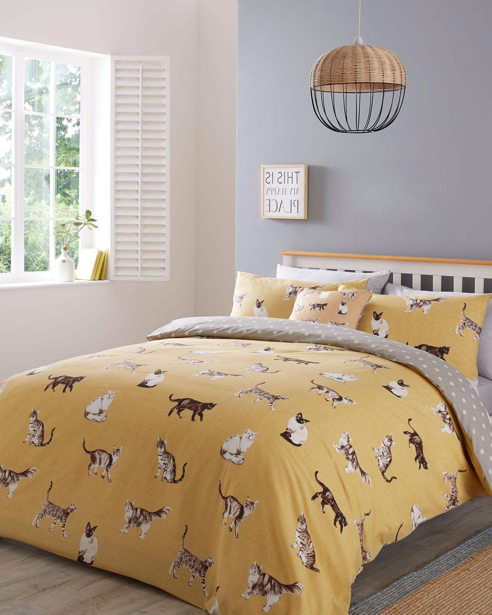 HARTLEY CHECK QUILT COVER Duvet Bedding Set /& Pillow Case Polycotton All Sizes