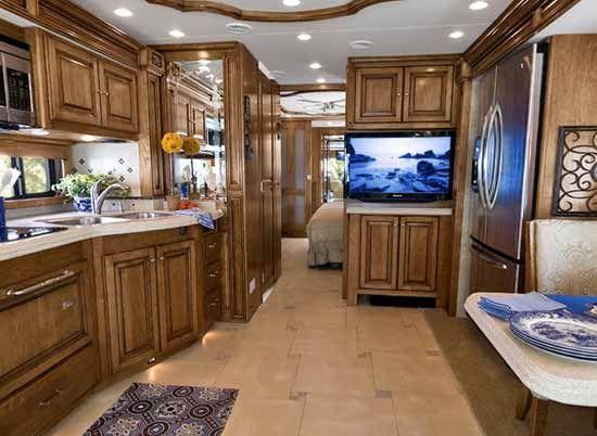 Inside Beautiful Rvs Tiffin Alllegro Bus Interior Showing