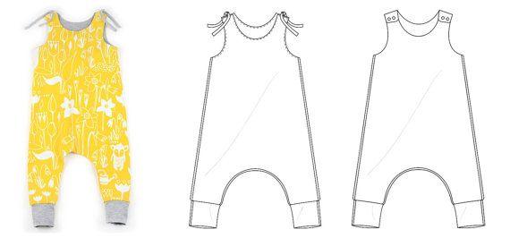 Harem romper pdf sewing pattern // photo tutorial // sizes preemie ...