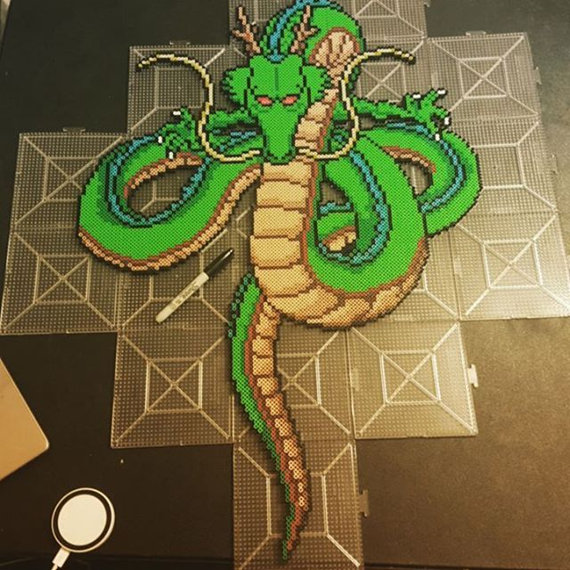Shenron - Dragon Ball perler beads by 8bitcrafting | 8Bit ...