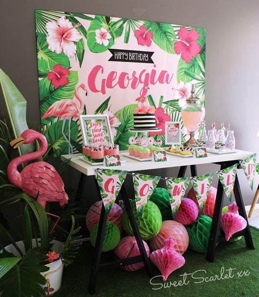 Flamingo Party Decorating Ideas Decoracion De Fiesta Temas Para Fiestas Fiesta De Cumpleanos De Flamenco