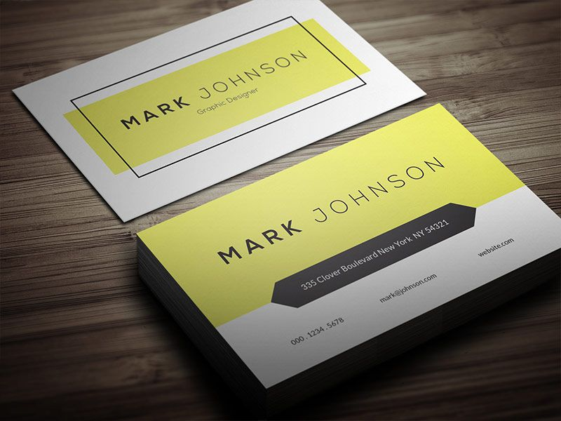 Free clean individual business card template business cards free clean individual business card template accmission Gallery