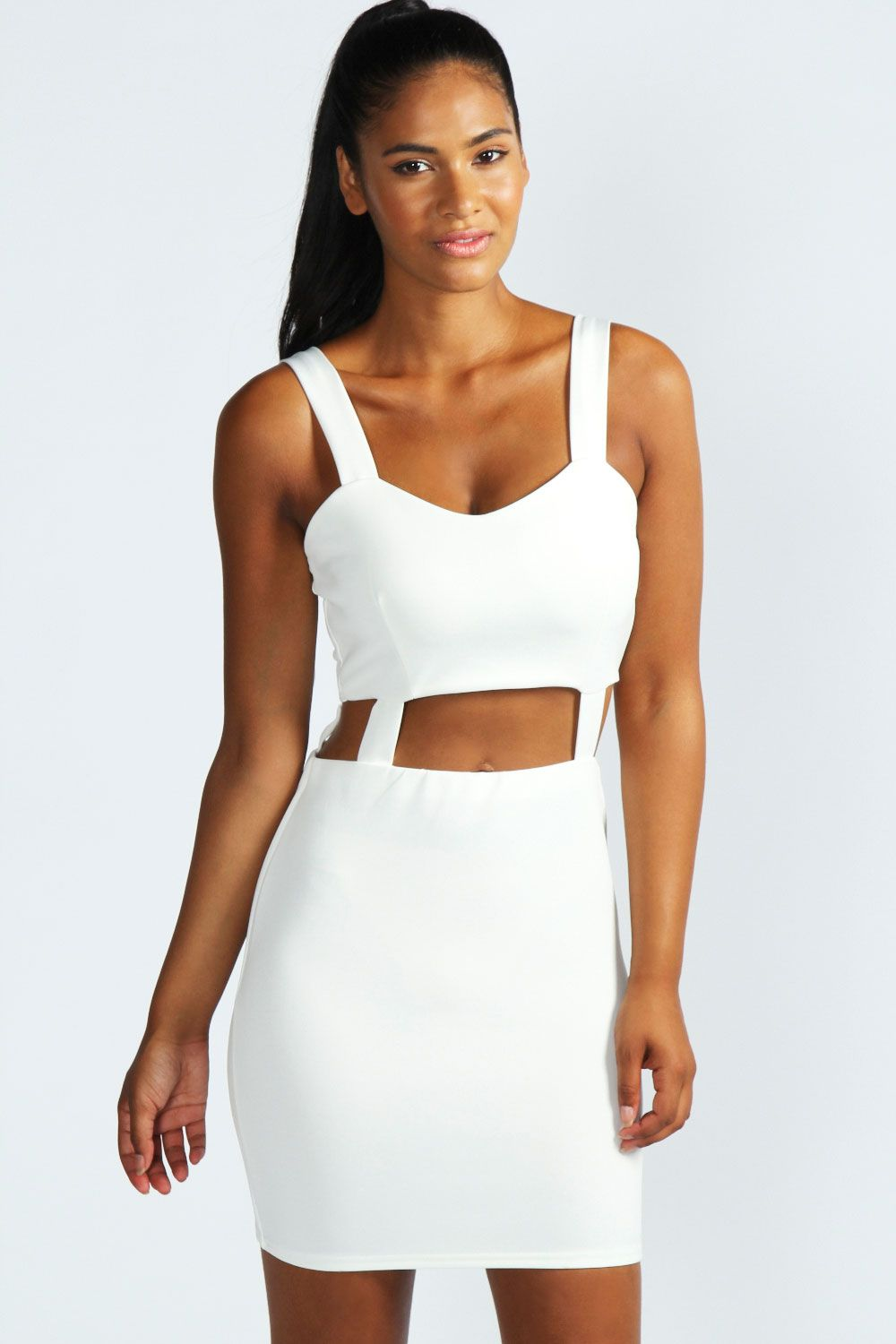 Dear-Lover White One-shoulder Cutout Club Bodycon Dress Wholesale ...
