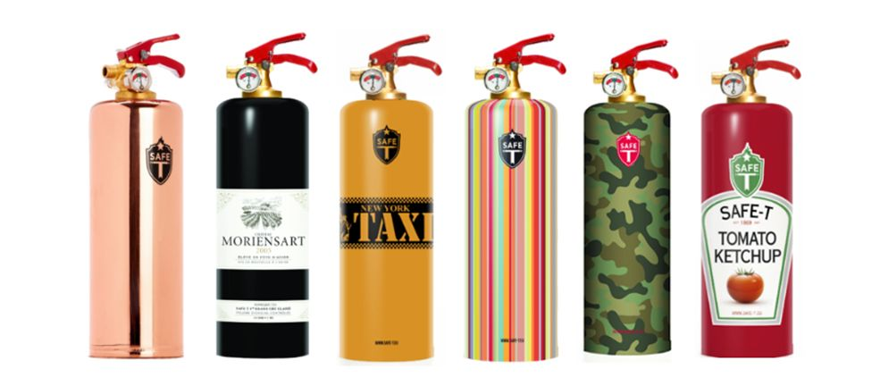 The Designer Fire Extinguisher Is For The Fanciest Of Kitchens Fire Extinguisher Extinguisher Fire Extinguishers