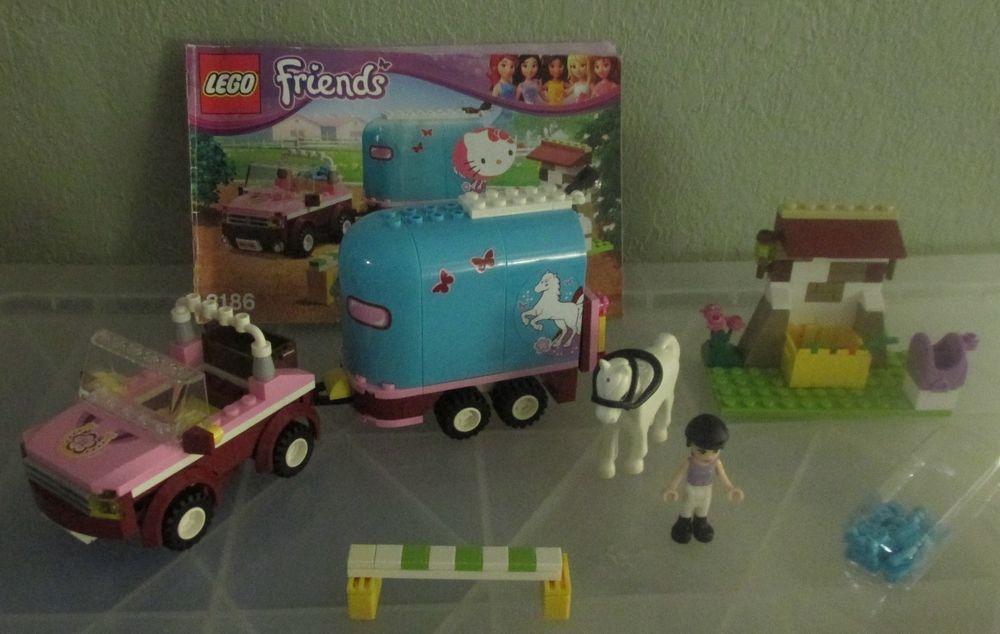 Lego Friends 3186 Emmas Horse Trailer Set Complete With Figures