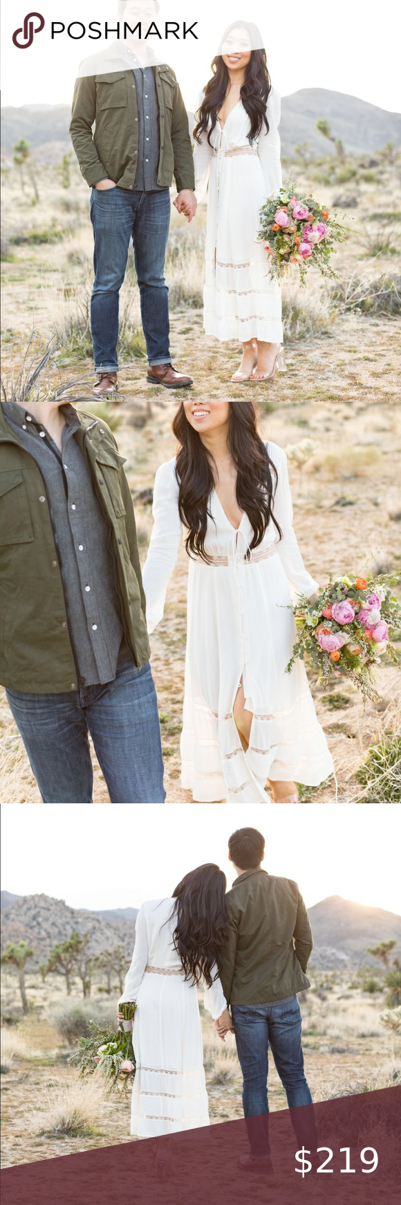 Photo of Reformation dress (Imogen dress, color in ivory) Worn only once for an engagemen…