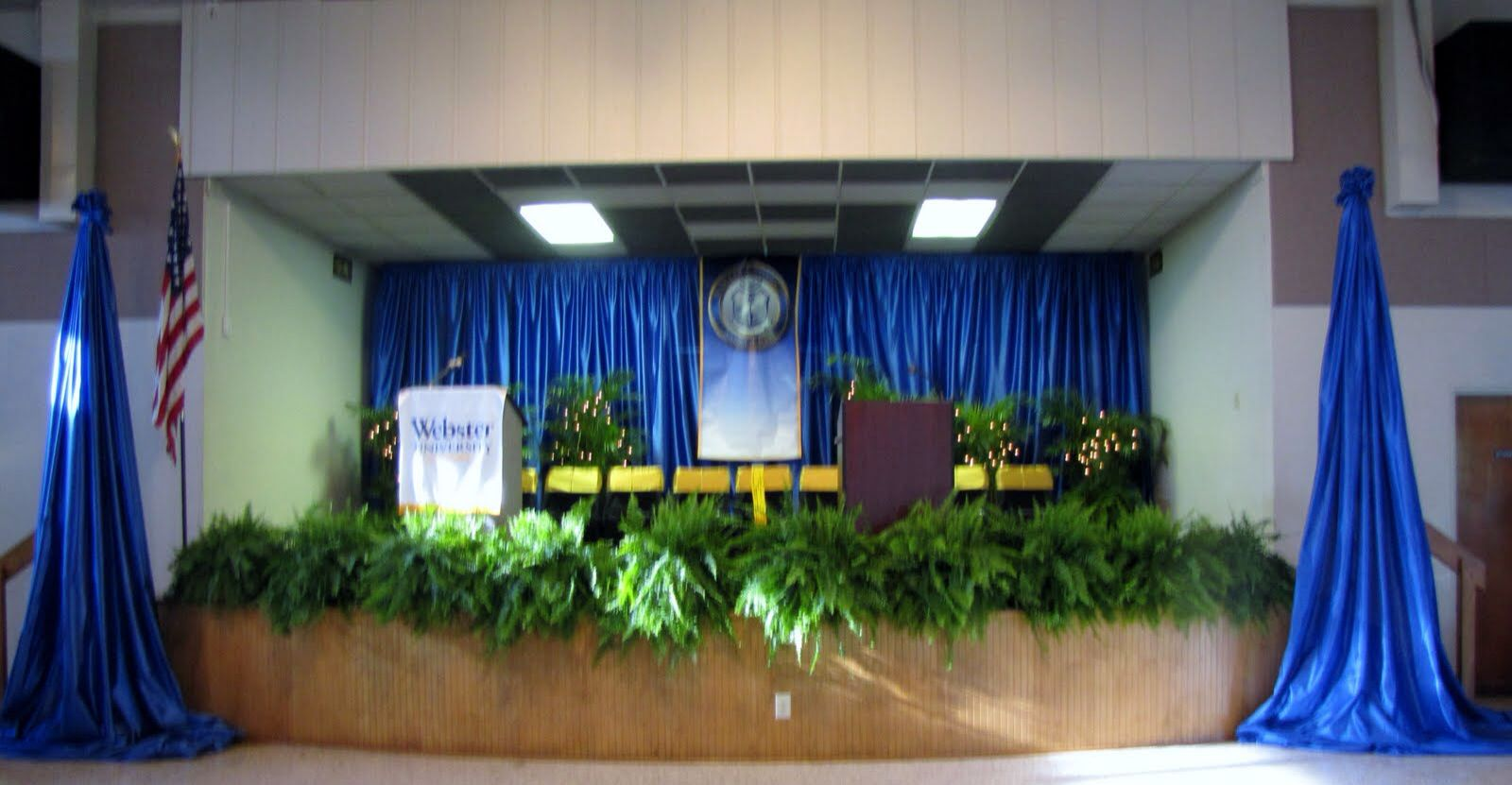 Graduation Stage Stage Decorations Graduation Ceremony
