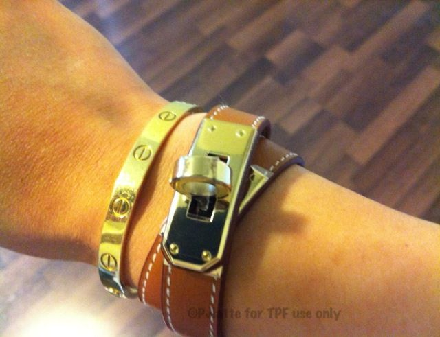 Sa Hermes Kelly Double Tour Bracelet Cartier Love