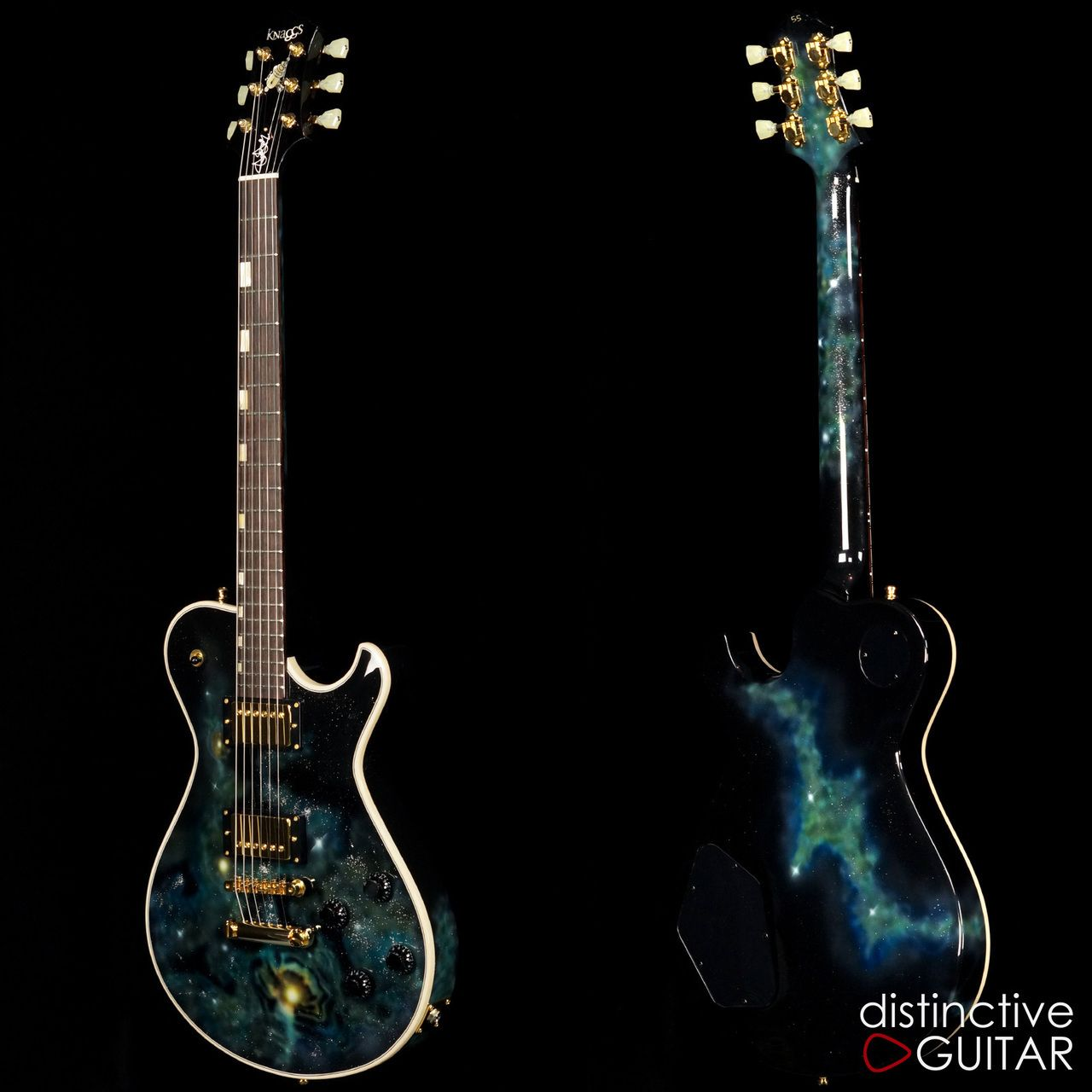 Knaggs Kenai SSC Steve Stevens Signature w/ Galaxy finish available at distinctiveguitar.com