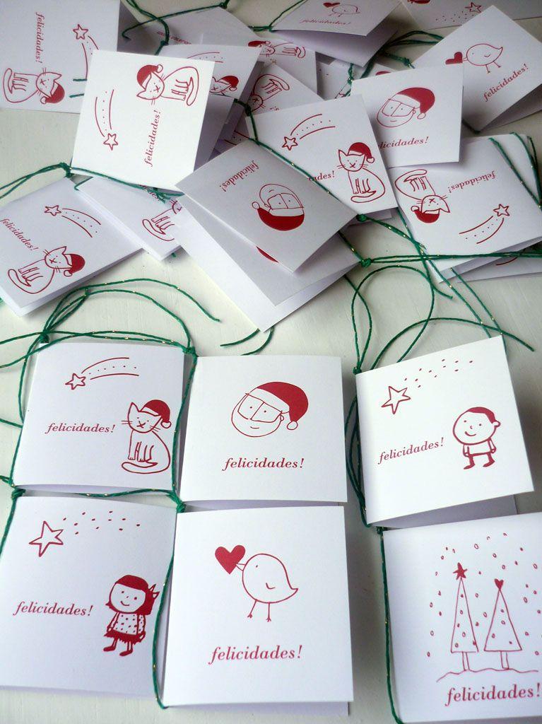 ¡Tarjetitas para los regalos de navidad!
