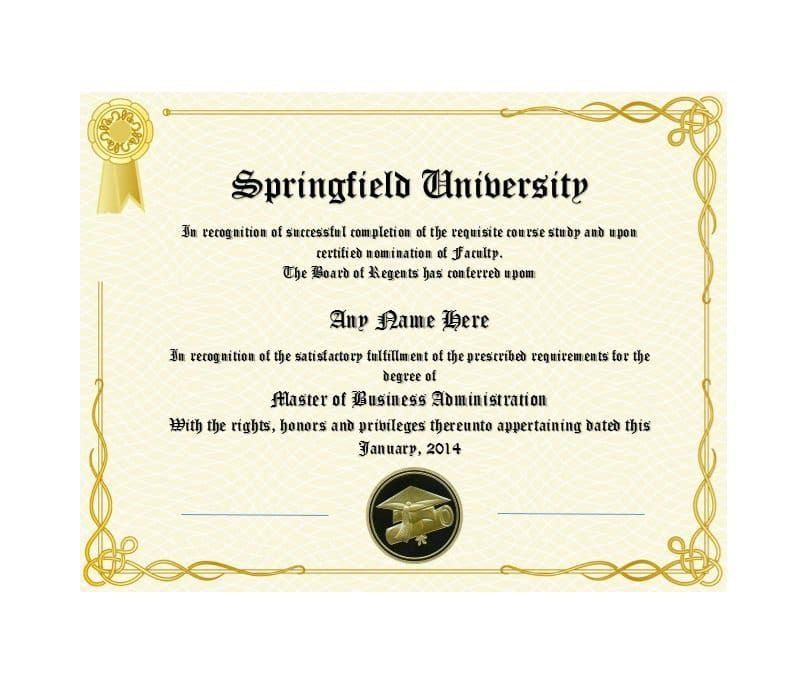 12 College Certificate Templates