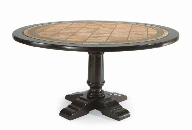 Estancia d24 94 round dining table outdoor table more - Maison jardin century furniture caen ...
