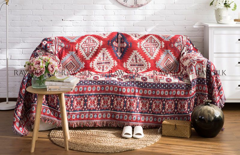 ESSIE HOME Kilim carpet for sofa living room bedroom rug yarn dyed ...