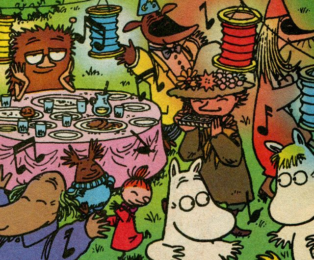 mint in the middle: muumi synttärit lucylle - moomin birthday for lucy ♥