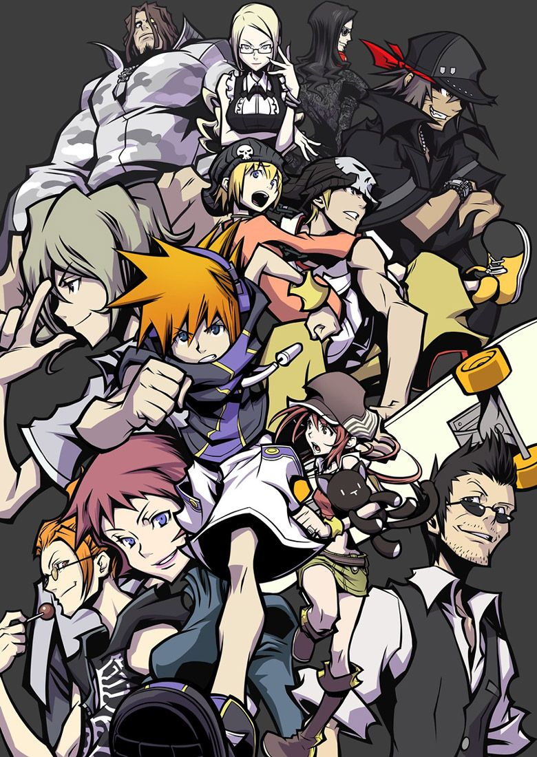 Main Characters Characters Art The World Ends With You End Of The World Character Art Anime