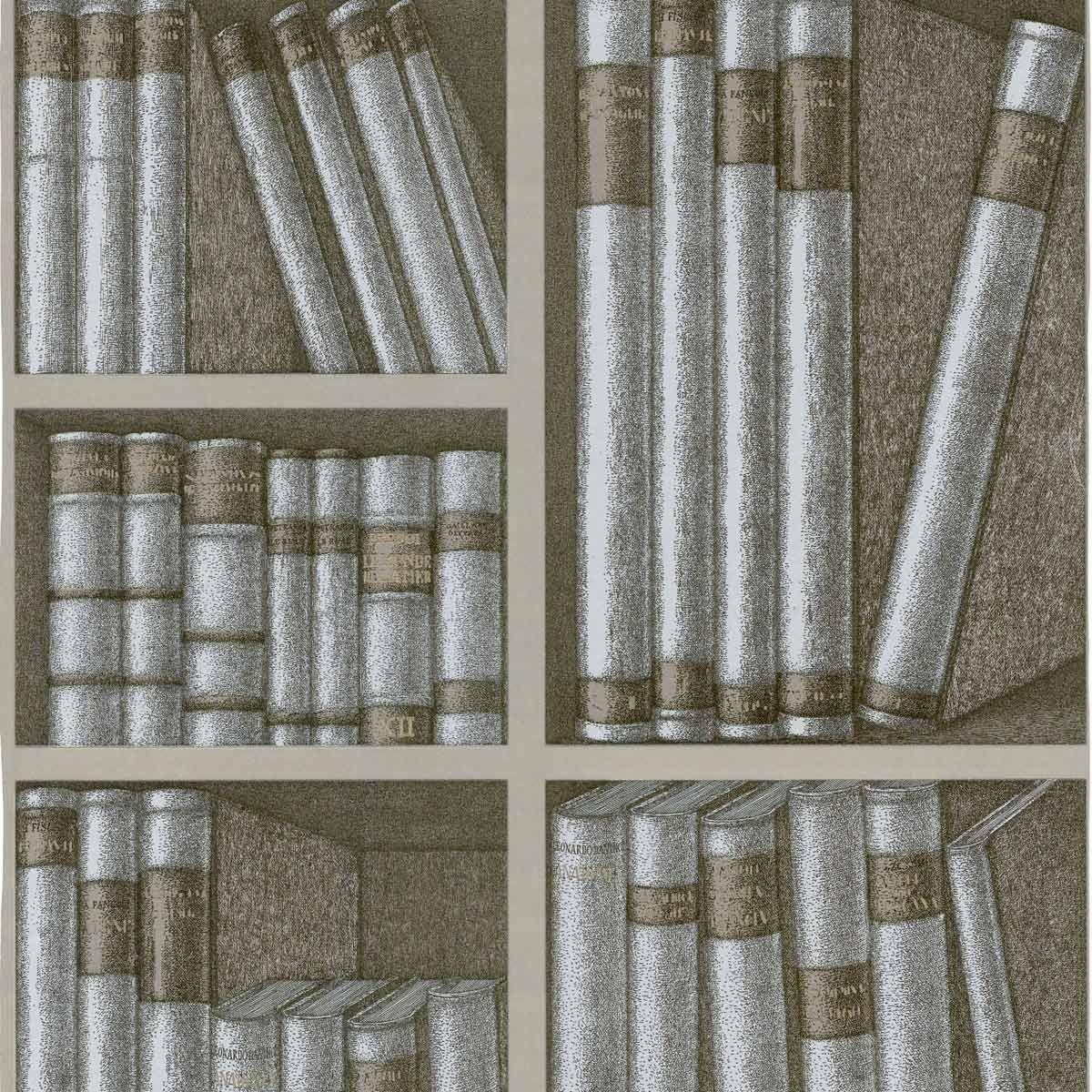 papier peint ex libris fornasetti 2 rouleaux n cessaires. Black Bedroom Furniture Sets. Home Design Ideas