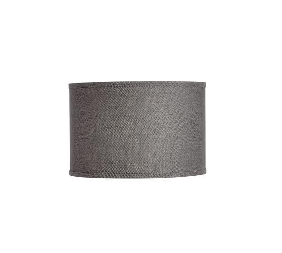 Burlap Straight Sided Drum Lamp Shade Pottery Barn