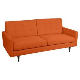 Anchor Your Living Room In Midcentury Chic Style With This Handsome Sofa Showcasing A Wood Frame Cotton Linen Upholstery And Tap Furniture Sofa Orange Couch