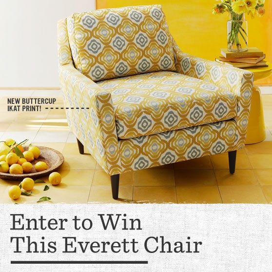 Enter To Win A Buttercup Ikat Everett Chair From West Elm!