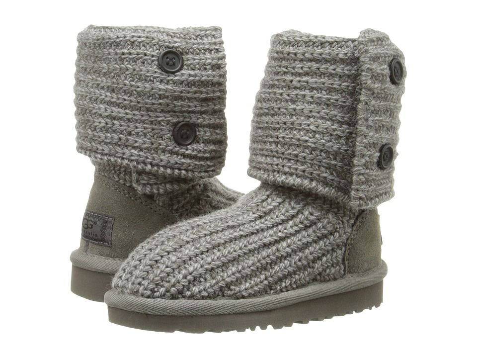 UGG Kids Cardy (Toddler/Little Kid/Big Kid) Girls Shoes Grey