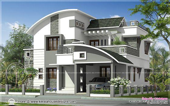 2200 Sq Ft Modern Villa Exterior House Design Unique