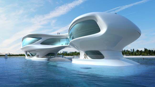 Futuristic Architecture Of Marine Research Center In Indonesia Futuristic Architecture Concept Architecture Future Buildings