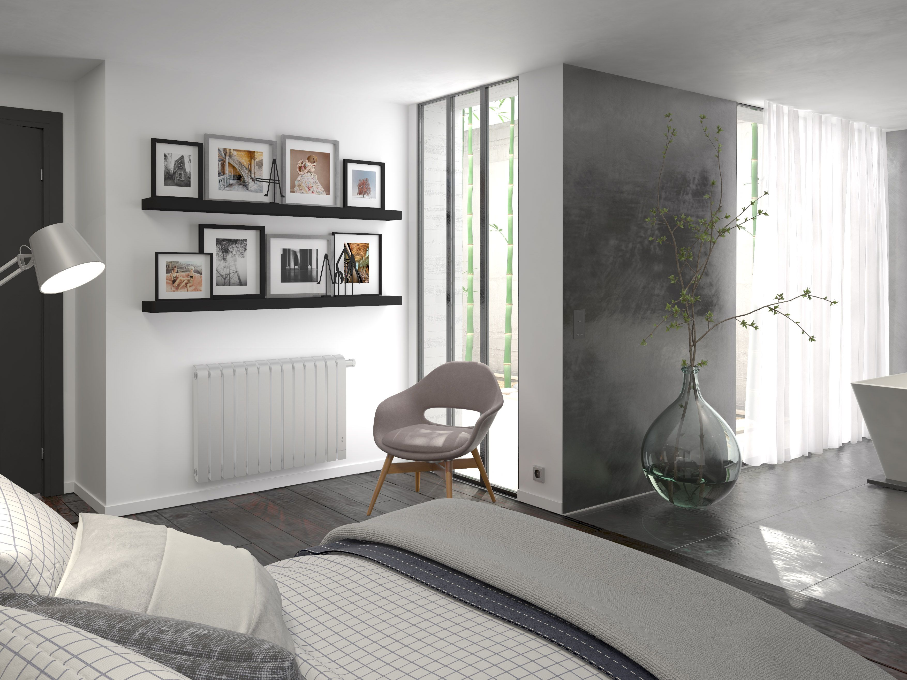 chambre aménagée avec un radiateur design mythik thermor ... - Radiateur Salle De Bain Thermor