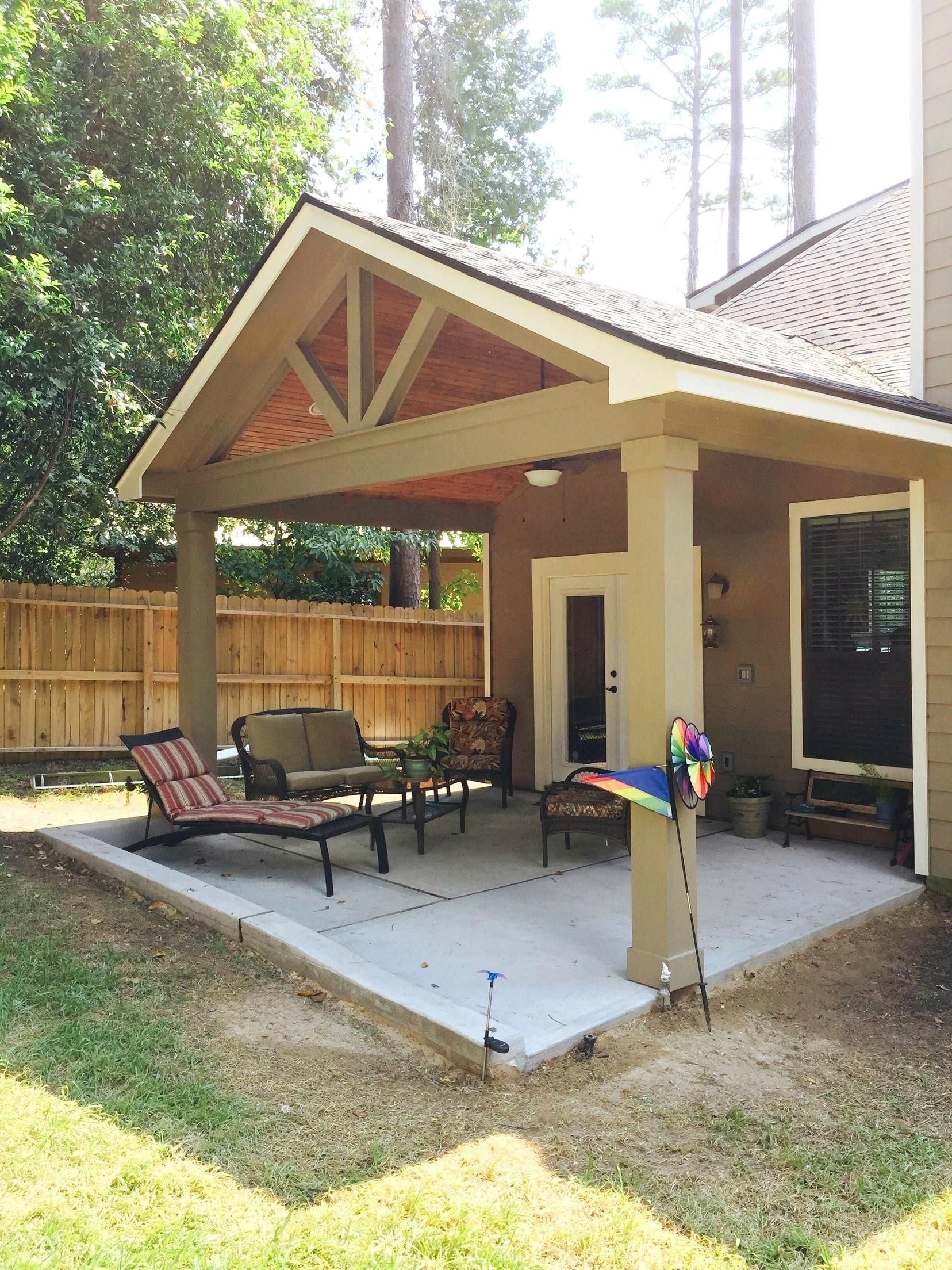 Fascinating Patio Cover Design Plans Framing N How To Build A Porch With A Gable Roof Thesouvlakihouse Patio Covered Patio Design Patio Makeover Concrete Patio