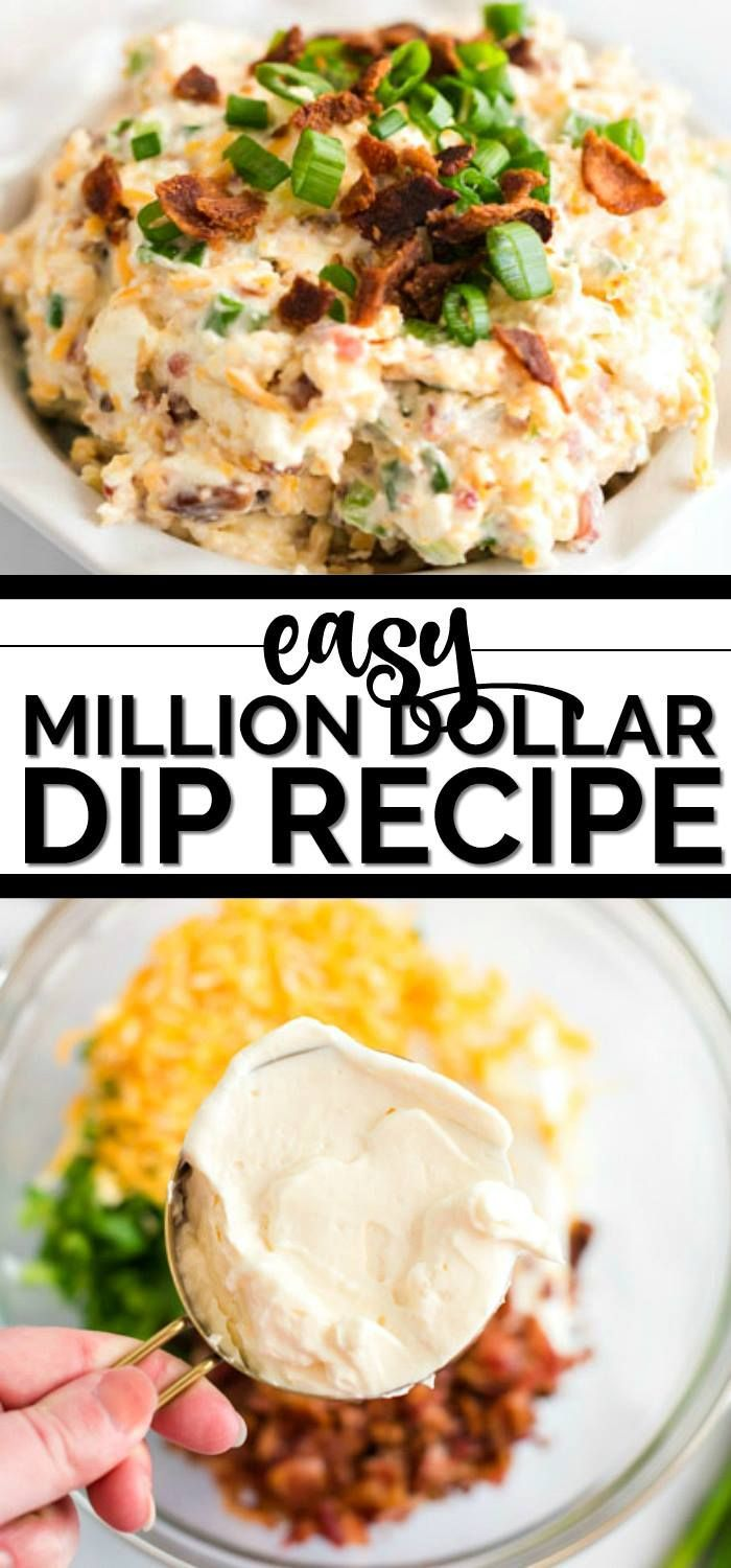 YUM! We love this MILLION DOLLAR DIP!!! It's filled with cheese and bacon -- it's incredible! Everyone will love it.   Just one jar of Best Foods or Hellmann's Mayonnaise from Walmart and a few simple ingredients is all you need for the best football game day party food! #inspiredbyonejar #Walmart #ad #milliondollardip