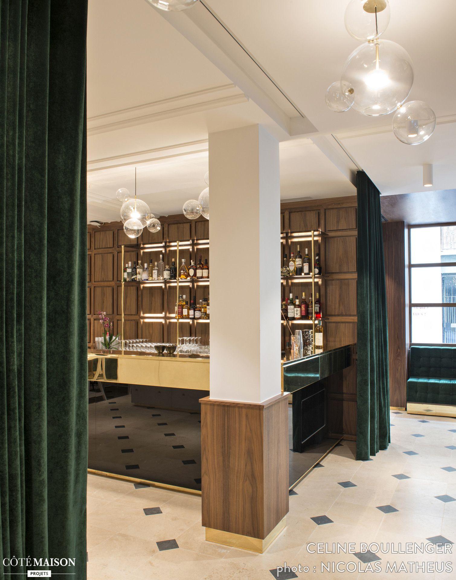 Interieur D Un Bar hotel parister, celine boullenger #lobby#bar#velours