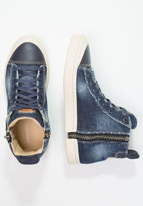 Diesel S-NENTISH - Sneakers alte - denim blau - Zalando.it