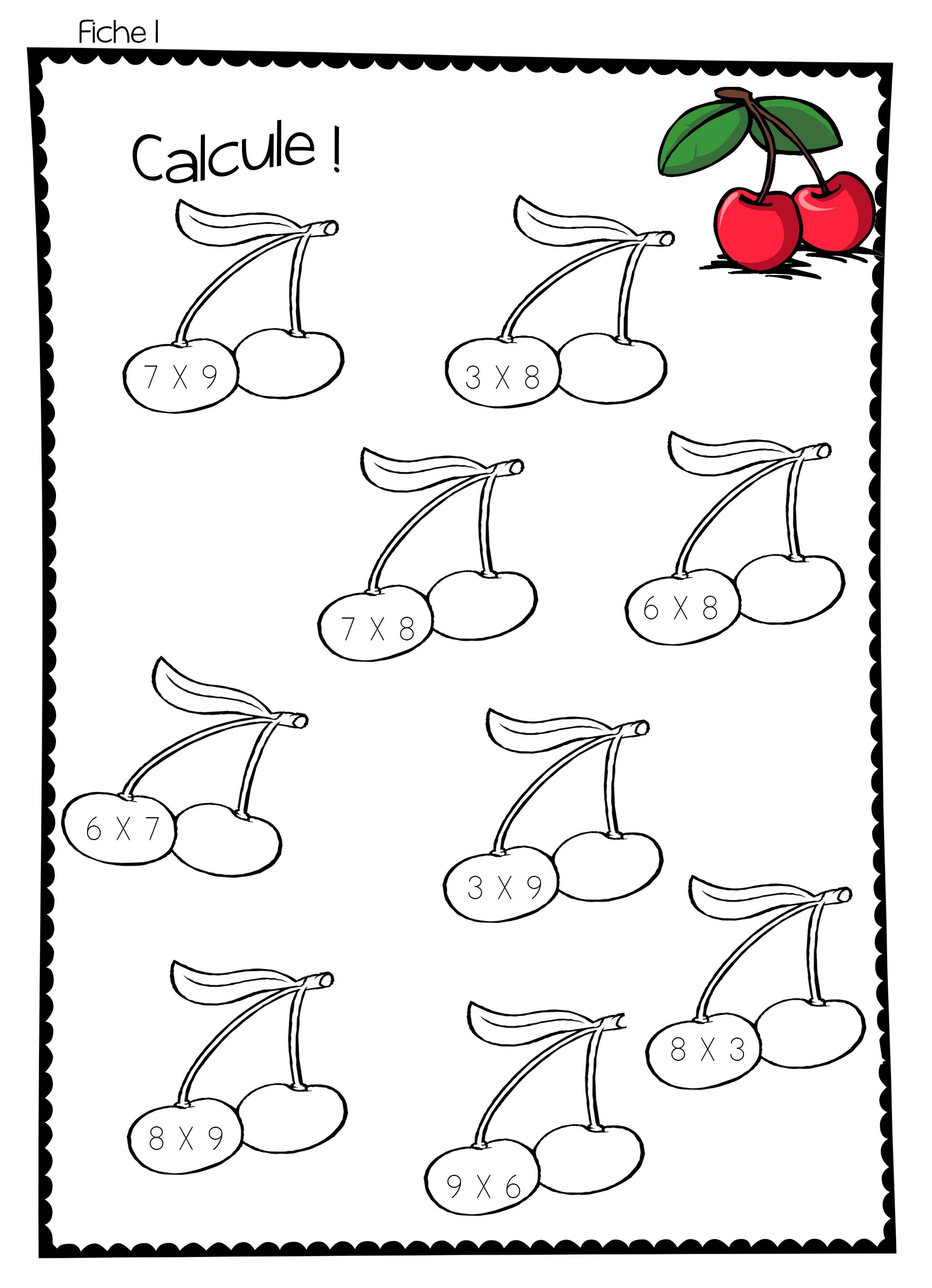 jeux tables de multiplication à ranger table de