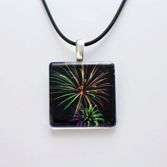 American 4th July Rainbow Firework Glass by HConwayPhotography, $18.00